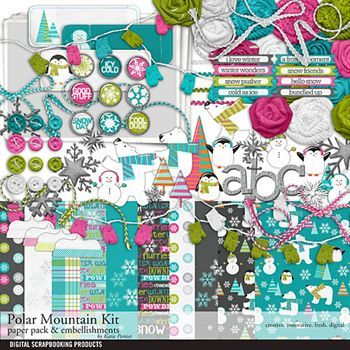 Polar Mountain Scrapbook Kit