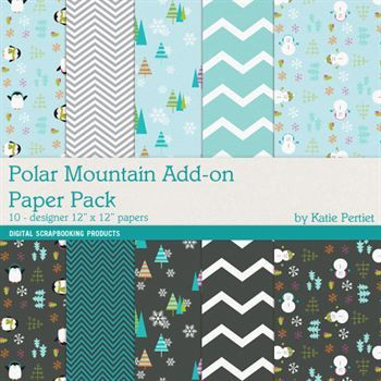 Polar Mountain Add-on Paper Pack