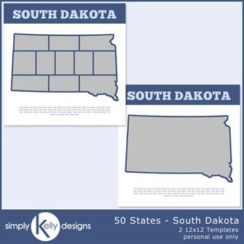 50 States - South Dakota