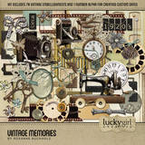 Vintage Memories Clock Faces