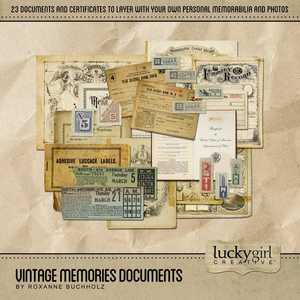 Vintage Memories Documents Digital Art - Digital Scrapbooking Kits