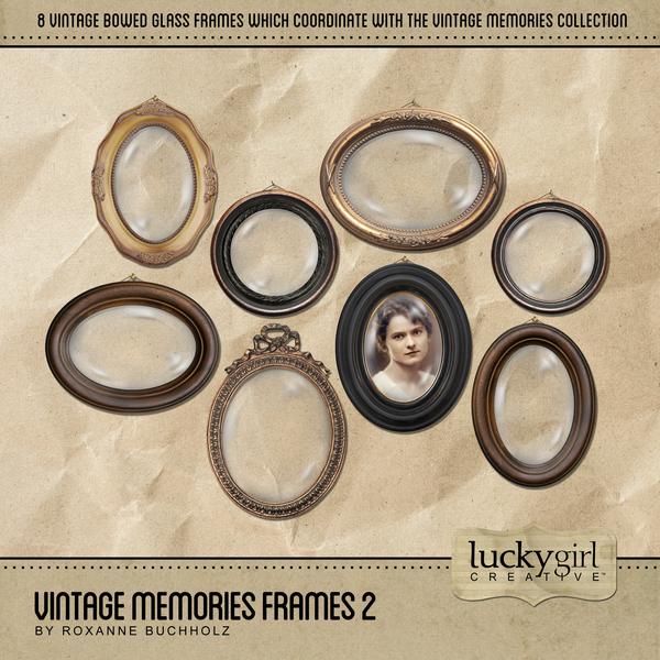 Vintage Memories Frames 2 Digital Art - Digital Scrapbooking Kits