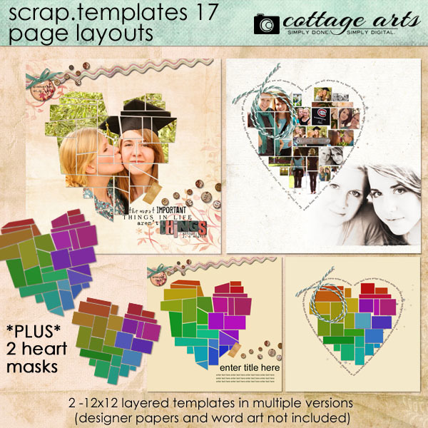 12 X 12 Scrap Templates 17 - Page Layouts
