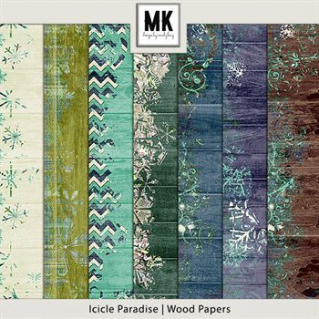 Icicle Paradise - Wood Papers