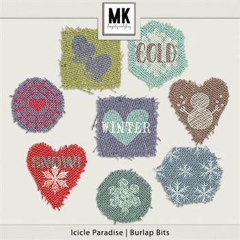 Icicle Paradise - Burlap Bits