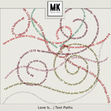 Love Is - Text Paths