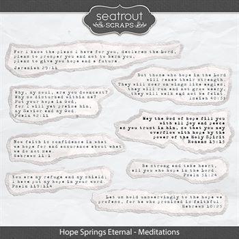 Hope Springs Eternal Meditations