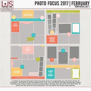 Photo Focus 2017 - February Templates - Set 1