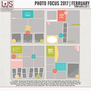 Photo Focus 2017 - February Templates - Set 2