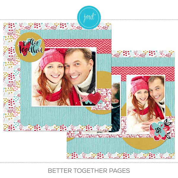 Better Together Pages Digital Art - Digital Scrapbooking Kits