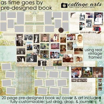 As Time Goes By 12x12 Pre-designed Book