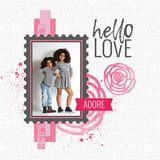 Hello Love 12x12 Acrylic Print