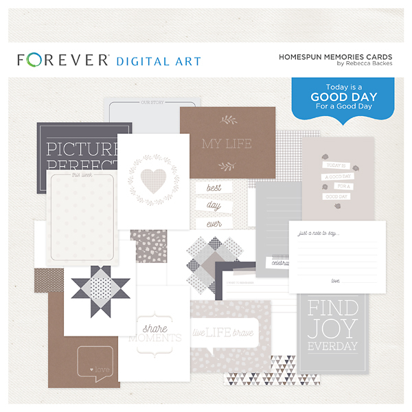 Homespun Memories Cards Digital Art - Digital Scrapbooking Kits