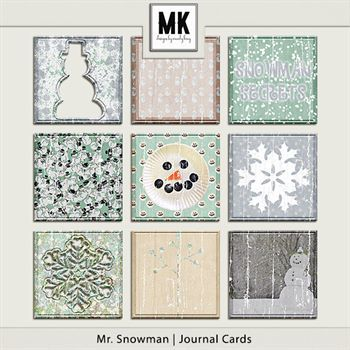 Mr. Snowman - Journal Cards