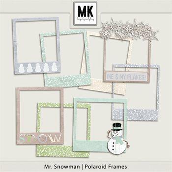 Mr. Snowman - Polaroid Frames