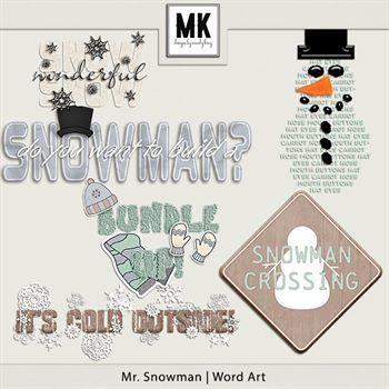 Mr. Snowman - Word Art