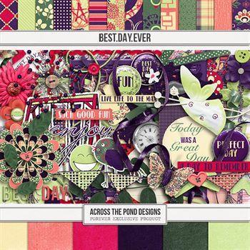 Best. Day. Ever. Page Kit Digital Art - Digital Scrapbooking Kits