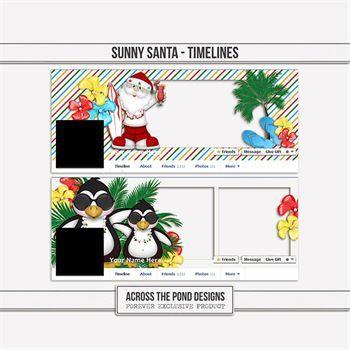 Sunny Santa - Facebook Timelines Digital Art - Digital Scrapbooking Kits