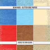Bear Hugs - Glitter Edge Papers