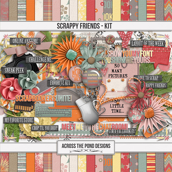 Scrappy Friends Page Kit