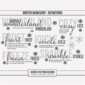 Winter Workshop - Definitions Digital Art - Digital Scrapbooking Kits