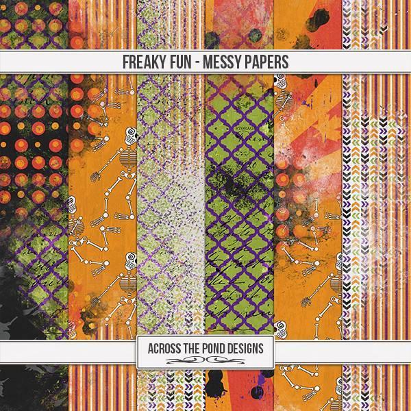 Freaky Fun - Messy Papers Digital Art - Digital Scrapbooking Kits