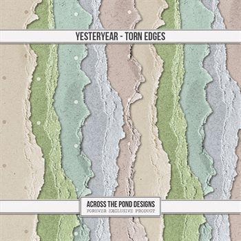 Yesteryear - Torn Edges Digital Art - Digital Scrapbooking Kits