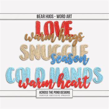 Bear Hugs - Word Art