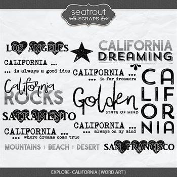 Explore Calfornia - Word Art