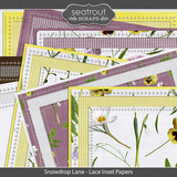 Snowdrop Lane Lace Inset Papers