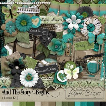And The Story Begins Scrap Kit