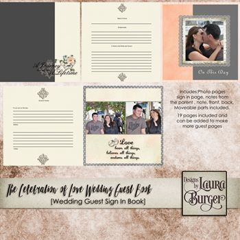 Celebration Of Love Guest Wedding Book