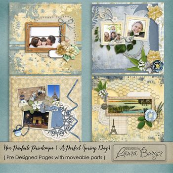 Une Paraite Printemps – A Perfect Spring Day Pre-designed Pages