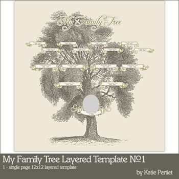 My Family Tree Layered Template No. 01