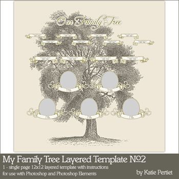 My Family Tree Layered Template No. 02