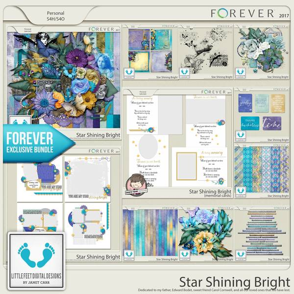 Star Shining Bright Mega Bundle Digital Art - Digital Scrapbooking Kits