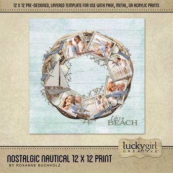 Nostalgic Nautical 12 X 12 Print