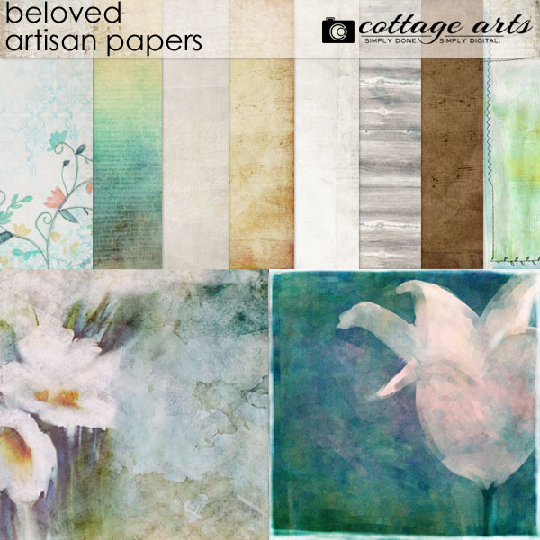 Beloved Artisan Papers Digital Art - Digital Scrapbooking Kits