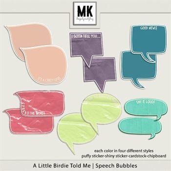 A Little Birdie Told Me - Speech Bubbles