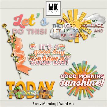 Every Morning - Word Art