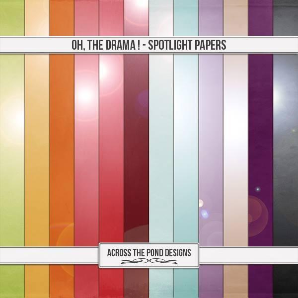 Oh, The Drama - Spotlight Papers Digital Art - Digital Scrapbooking Kits