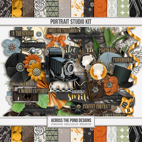 Portrait Studio - Page Kit Digital Art - Digital Scrapbooking Kits