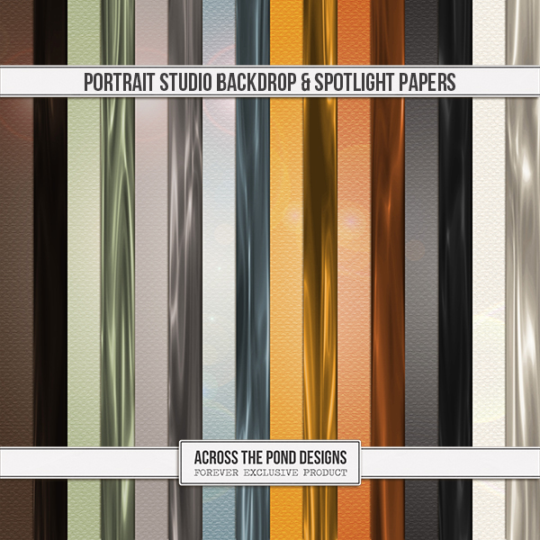 Portrait Studio - Backdrop & Spotlight Papers Digital Art - Digital Scrapbooking Kits