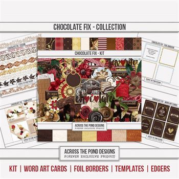 Chocolate Fix - Discounted Bundle Digital Art - Digital Scrapbooking Kits