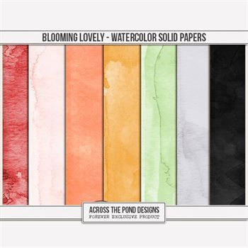Blooming Lovely - Watercolor Solids
