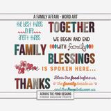 A Family Affair - Word Art