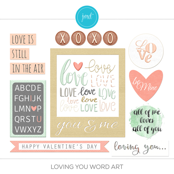 Loving You Word Art