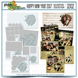 12x12 Happy New Year 2017 Blueprint Collection