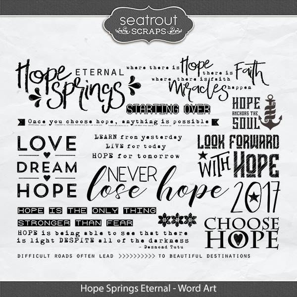 Hope Springs Eternal Word Art