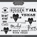 Explore Texas - Word Art